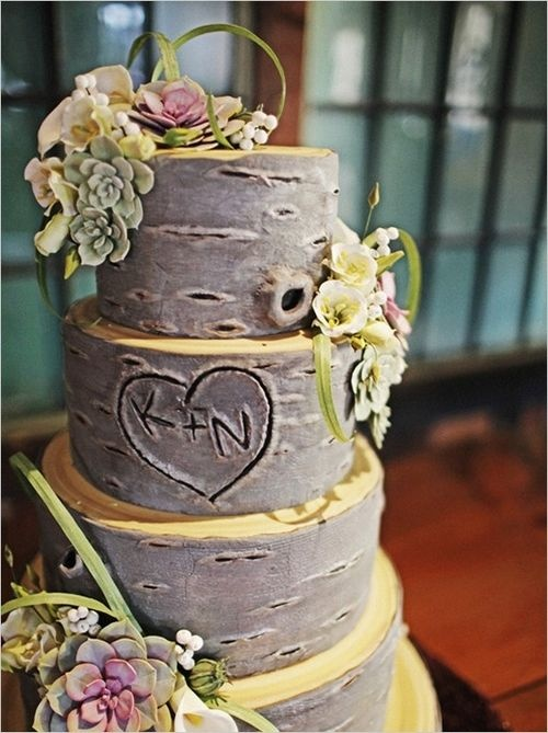 Nature Themed Wedding Cakes