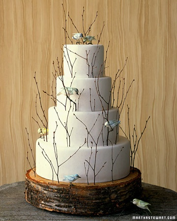 Nature Theme Wedding Cakes
