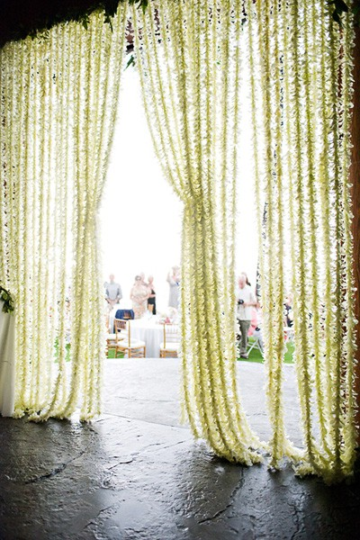 Flower Strand Wedding Decor