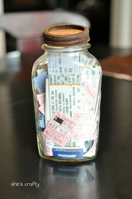 Memory Jar with Tickets