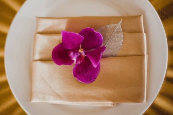 Elegant Wedding Color Palette: Fuchsia, Gold and Silver