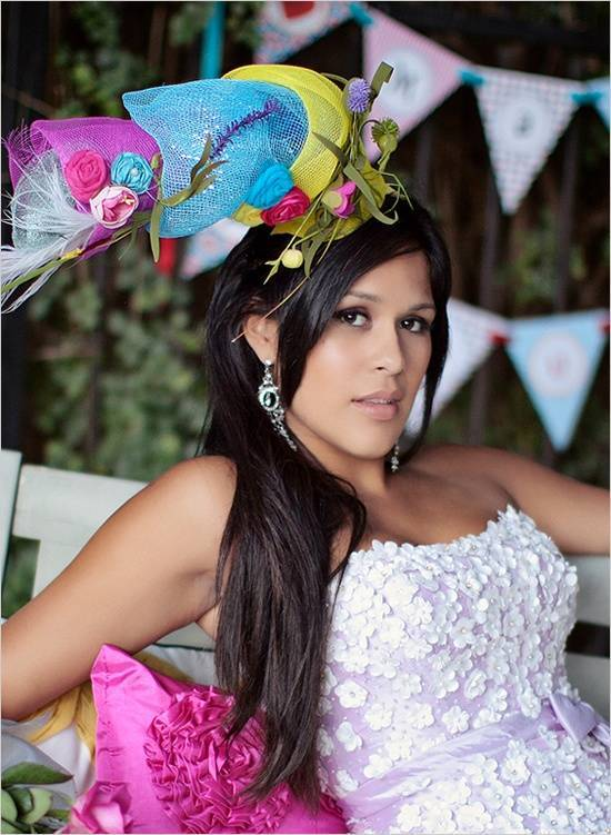Crazy, Unique, Colorful Wedding Hat