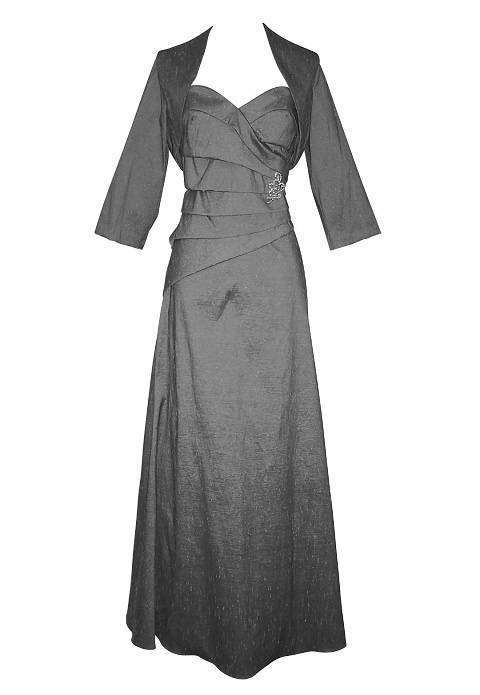 Mother of the Bride Charcoal Grey Dress