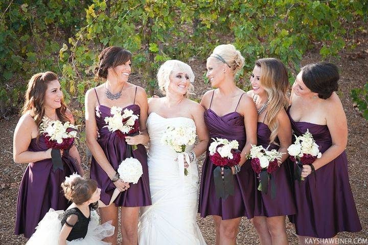 Fall Wedding Palette: Deep Purple and Charcoal