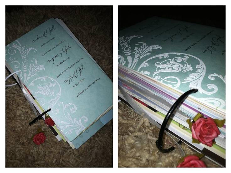 Coffee Table Wedding Card Book