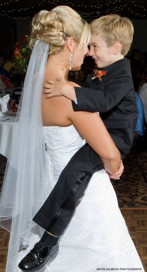 Bride and Ring Bearer Dancing