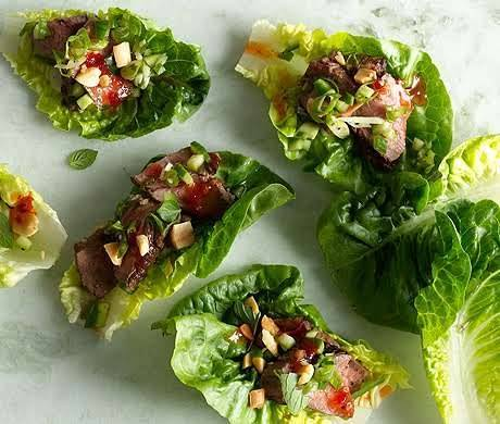Seared Lettuce Steak Cups