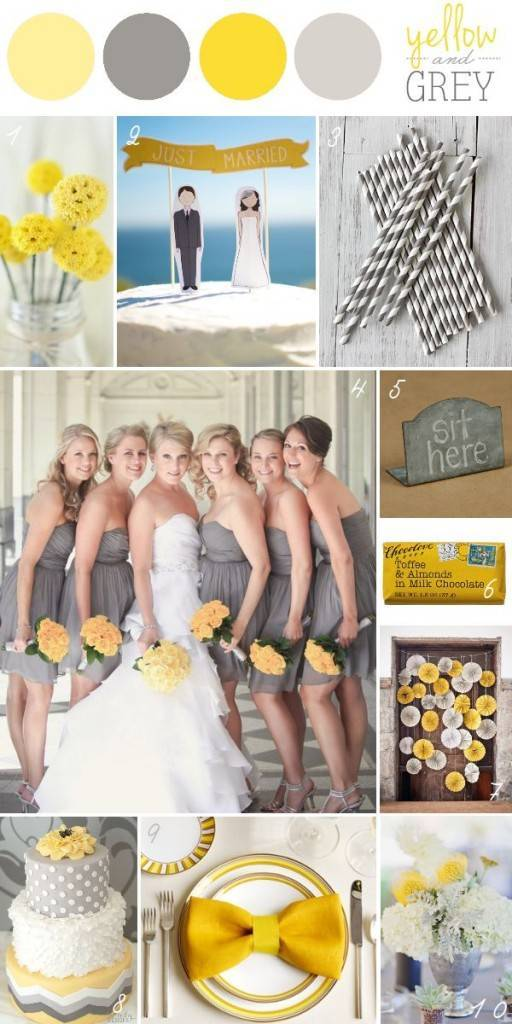 Trendy Spring 2014 Wedding Color Palettes