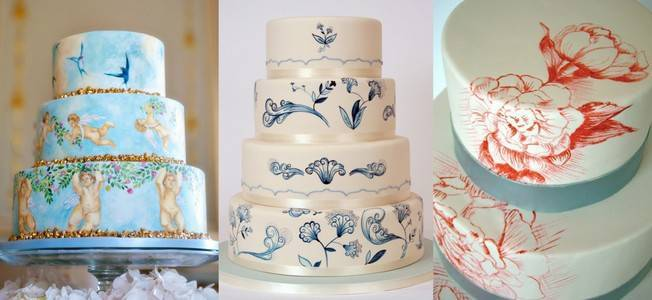 16 Stunning Hand Painted Wedding Cakes