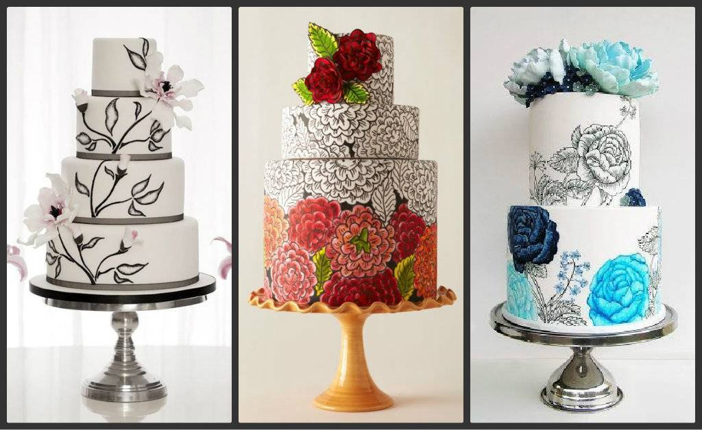 17 Stunning Hand-Painted Wedding Cakes