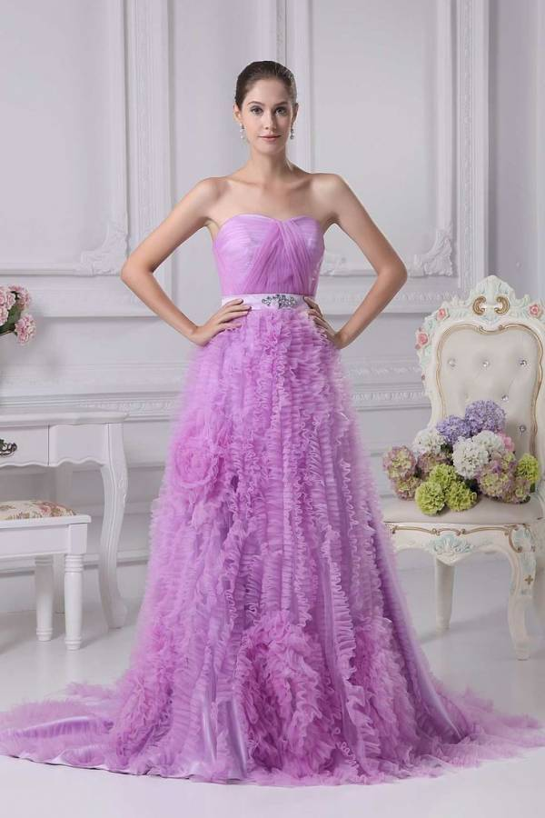 5 Beautiful Purple Wedding Dresses
