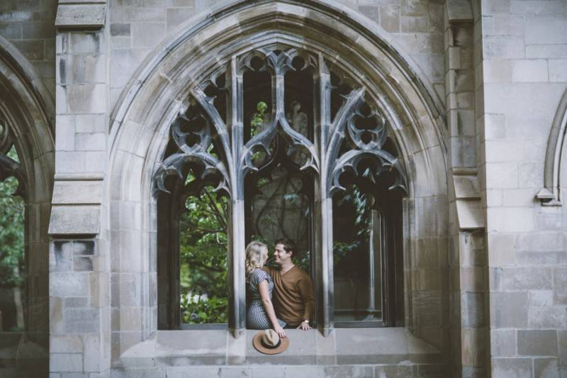 Classic Engagement Shoot in the University of Chicago