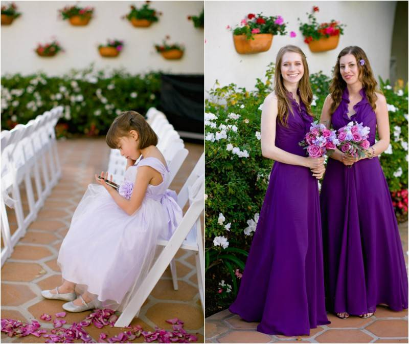 Outdoor Wedding with Red + Purple Accents