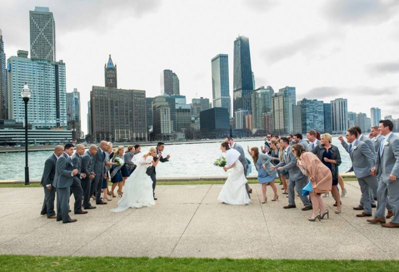 What Happens When You Bump into Another Wedding Entourage?