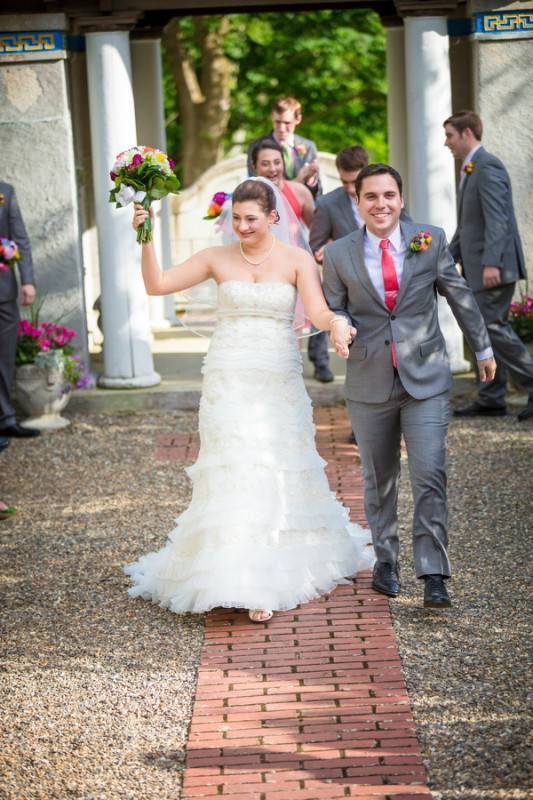 A Bright and Colorful Day for a Wedding
