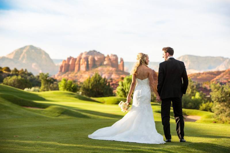 Wedding with a Red Rock View