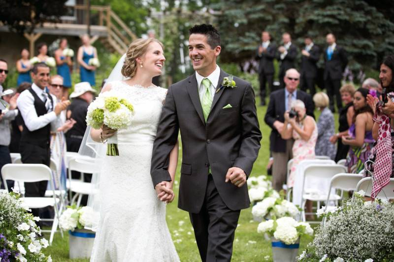 Jeweled and Rustic Outdoor Wedding