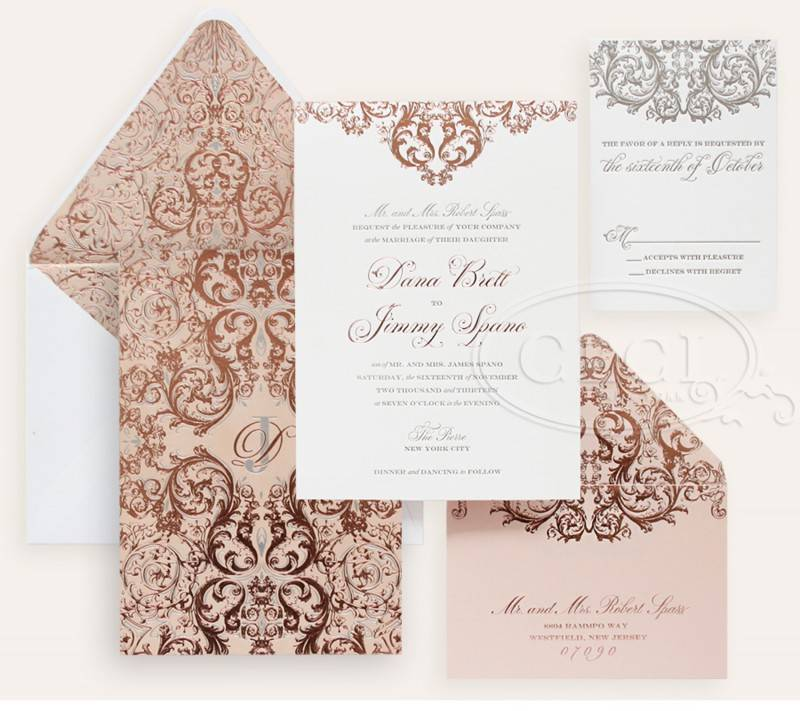 Wedding Invitation Inspiration: Stunning Gold Foil