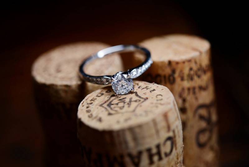 Wedding Rings And Wine