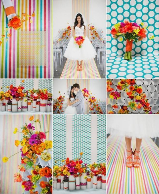 Colorful, Vivid Weddings Can be Elegant Instead of Tacky