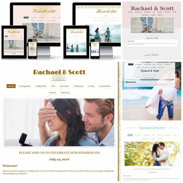 Wedding websites elegant wedding nearlyweds wedding website templates for every bride junglespirit Image collections