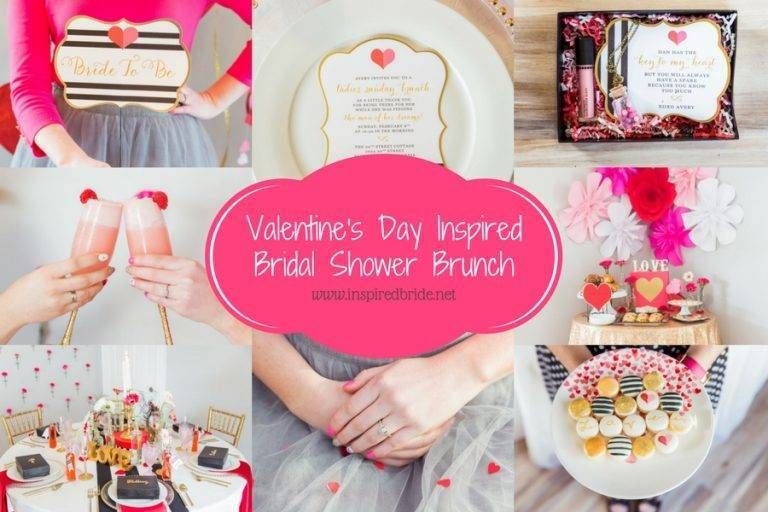 Valentine's Day Inspired Bridal Shower Brunch
