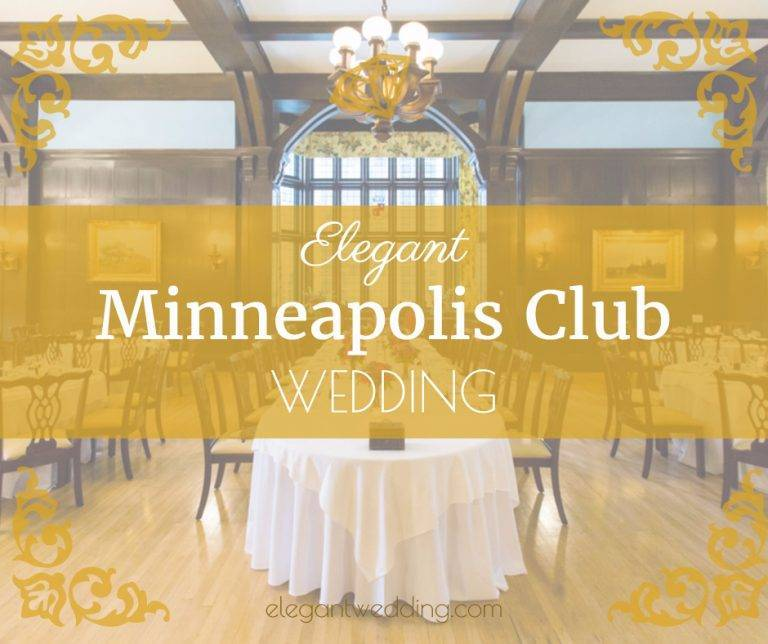 Elegant Minneapolis Club Wedding