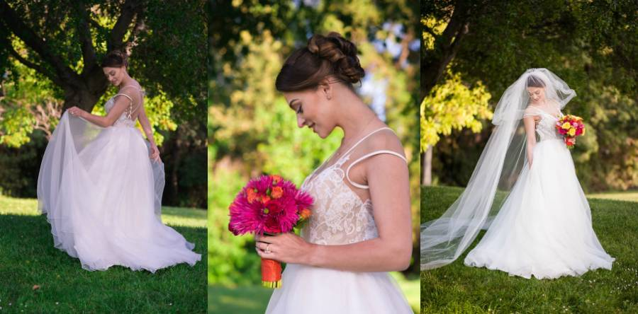 Bright Bold Wedding in the Woods