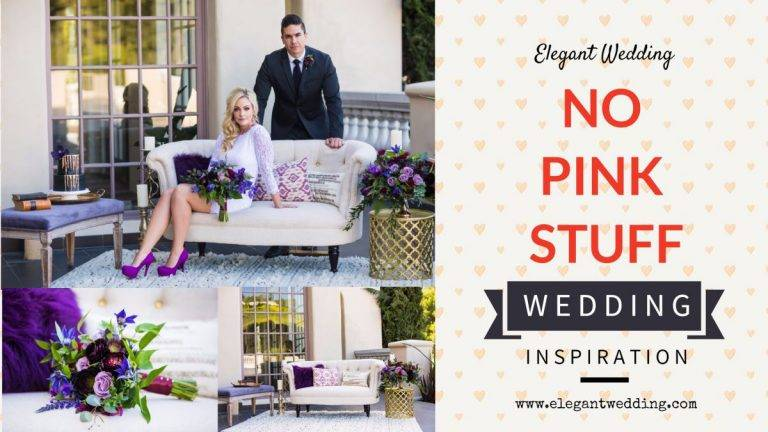 No Pink Stuff Wedding Inspiration