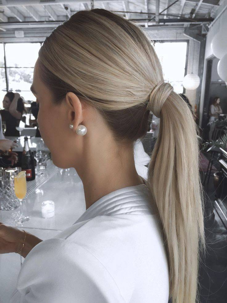 Try This Chic Ponytail Style For A Sophisticated Bridal  Look