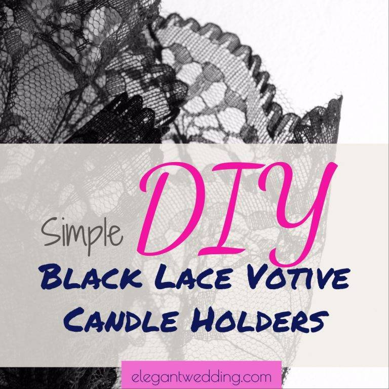 Simple DIY Black Lace Votive Candle Holders