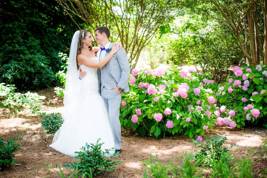 Turquoise and Purple Botanical Garden Wedding