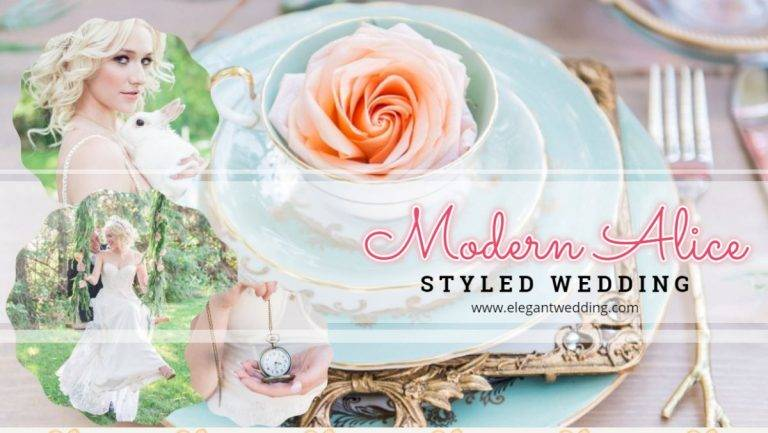 Modern Alice Styled Wedding