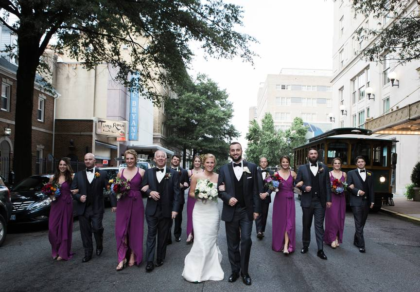 Colorful and Unique Historic Ballroom Wedding
