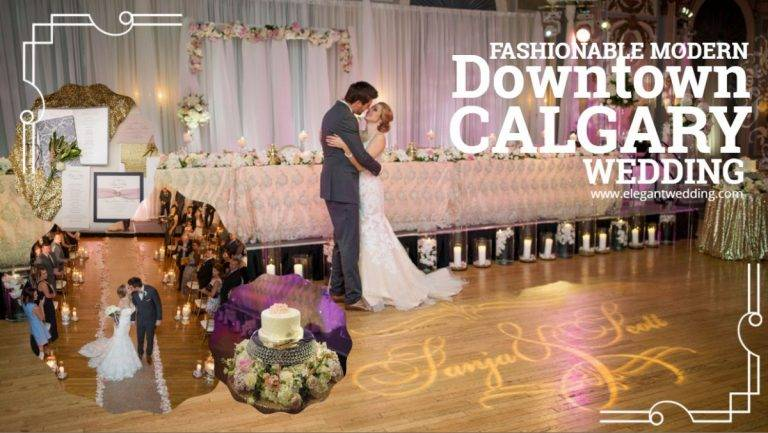 Fashionable Modern Downtown Calgary Wedding