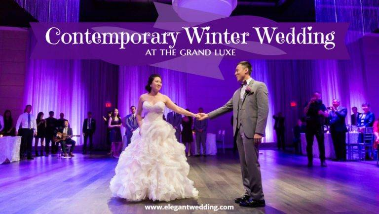 Contemporary Winter Wedding at The Grand Luxe