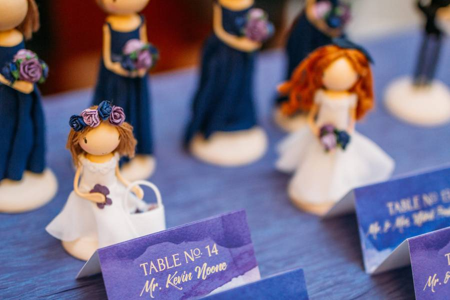 Classic Wedding of Blues and Purples