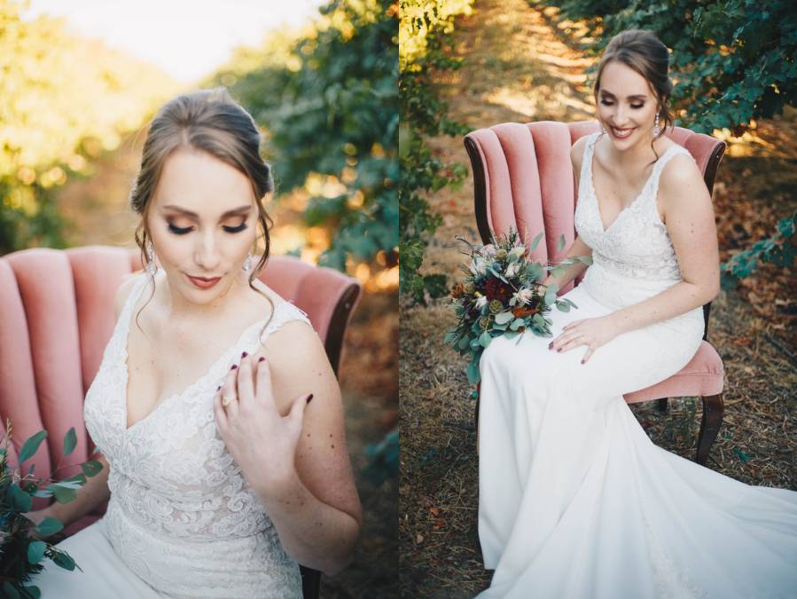 Autumnal Harvest Styled Vineyard Wedding