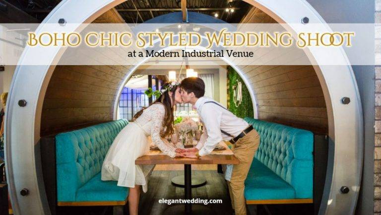 Boho Chic Styled Wedding Shoot at a Modern Industrial Venue