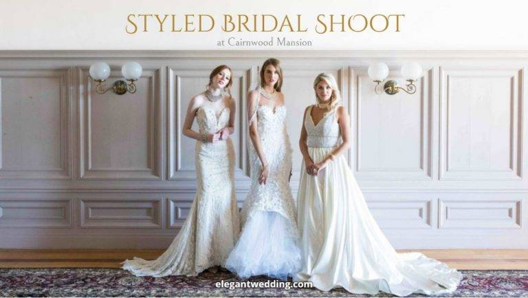 Styled bridal shoot at Cairnwood Mansion