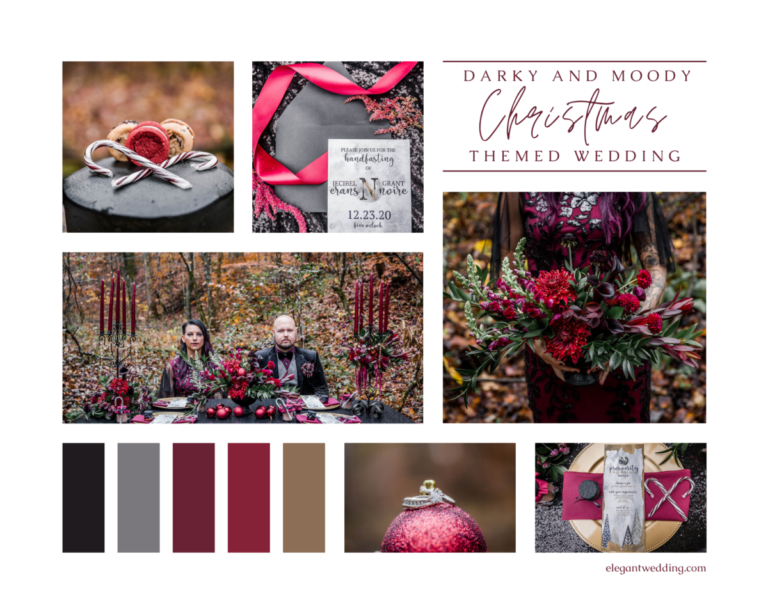 Darky and Moody Christmas Themed Wedding